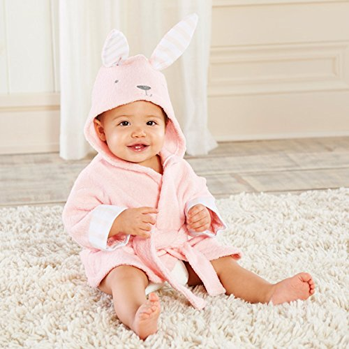 Baby Aspen Baby's Bath Time Bunny Hooded Spa Robe, Pink, 0-9 Months by Baby Aspen [並行輸入品]