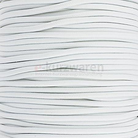 e-kurzwaren 5m Cordino Elastico in Gomma 1mm//2mm//2,5mm//3mm//4mm//5mm di Alta qualita Rundgummi Cordoncino cordone di Gomma 32 Colori