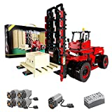 Myste Carretilla elevadora de 6 ruedas con mando a distancia de 2,4 G/aplicación y 5 motores, bloques de construcción MOC RC, bloques de construcción 2015, compatible con Lego Technic 42079