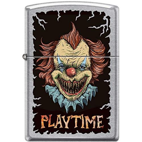 Zippo Killer Clown Playtime Street Chrome Windproof Lighter New Rare -  207CI017843