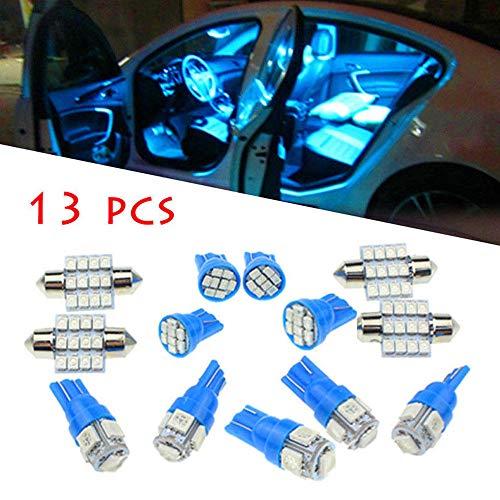 NWQEWDG - Juego de Luces LED para Interior de matrícula, 13 Unidades, Color Azul