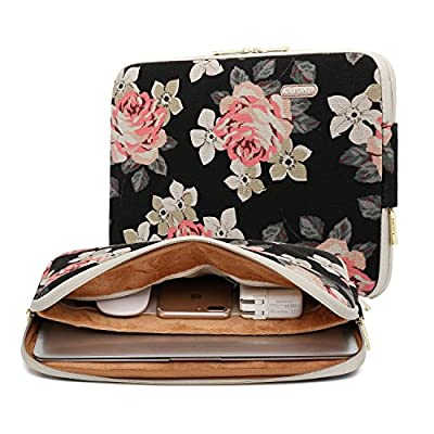 Kayond Rose Pattencanvas Water-resistant for for 11-15 Inch Laptop Sleeve Case Bag