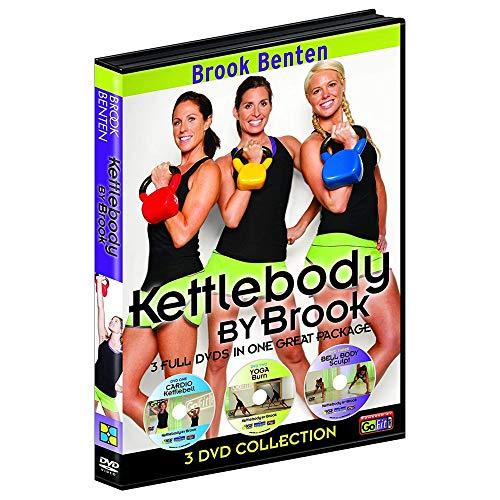 GoFit Brook Benton Kettlebody by Brook Workout DVD Set - 3 Disk Series, 90 Minutes of Intense Exercise, 30 Minutes of Cardio Kettlebell, Yogaburn, Bell Body Sculpt