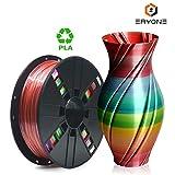 PLA Filament 1.75mm Rainbow Multicolor, ERYONE Multicolor Filament PLA 1.75mm, 3D Printing Filament...