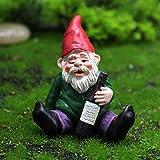 Life up Lustige Gartenzwerg Figur Happy Gartenzwerg Dekoration, Betrunkene Garden Gnomes Kit von 1/4 Stück für Fairy Garden, Rasen Ornamente, Innen- oder Außendekorationen und Geschenk
