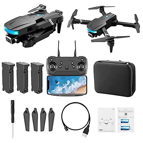 FMHCTN Mini Drone RC con videocamera HD 4K per Bambini, Quadcopter GPS con Doppia Fotocamera per Principianti, Drone Pieghevole Facile da Usare, Zoom 50 X, WiFiFPV