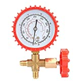 Thinkk Anself ABS and Copper Air Conditioning Refrigerant Recharge Pressure Gauge Gauge Manometer and Valve