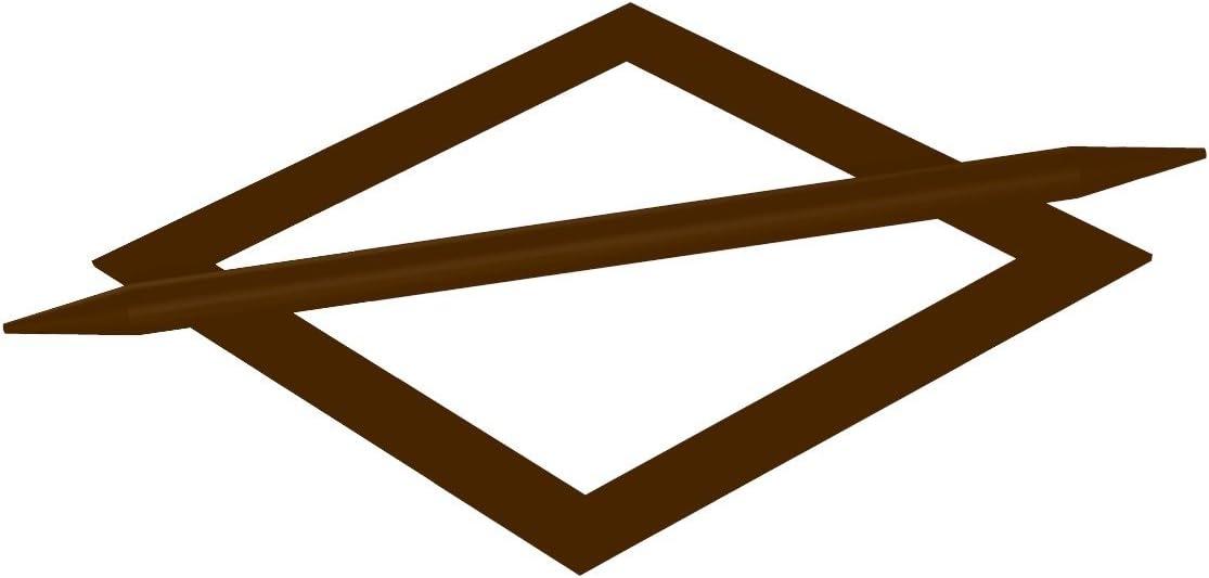 Flair Deco 90031021-0002 Cortinas Abrazadera/Abrazadera de diseño en con Extractor, 1} Set, de Lado, de Metal, marrón
