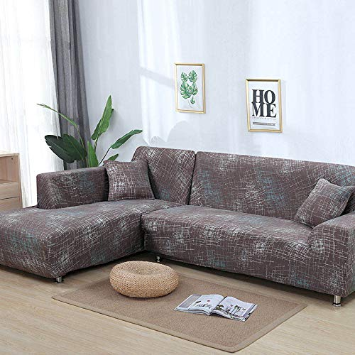 WXQY Patrón geométrico en Forma de L Funda de sofá Modular sofá Toalla Familia decoración antiincrustante Funda de sofá Todo Incluido A18 2 plazas