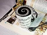 Tasse Notenlinie mit Deckel - arrangiert für Musiker: Geschenkartikel: Tasse mit Deckel/Untersetzer...