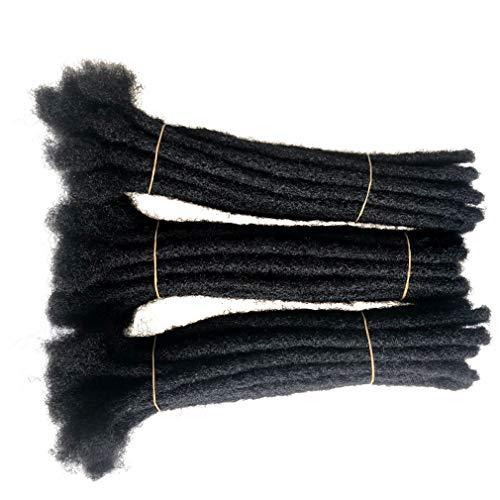 Shinnaul Human Hair Natural Dreadlocks Extensions Handmade Locs Hair Extension 40 Strands (0.4cm diameter) (8