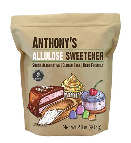 Anthony's Allulose Sweetener, 2 lb, Batch Tested Gluten Free, Keto Friendly Sugar Alternative, Zero Net Carb, Low Calorie