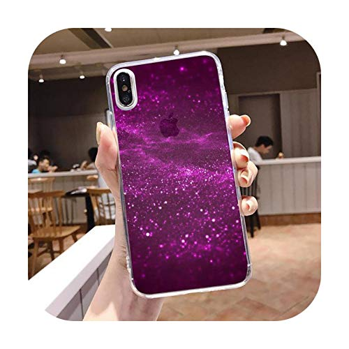 Diseño de arte gradiente cielo estrellado funda transparente suave para iPhone 5 5s 5c se 6 6s 7 8 11 12 plus mini x xs xr pro max-a5-For iphone 6 6s plus