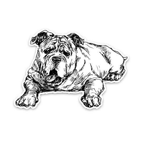 Auto Raam Sticker Muursticker Engels Bulldog Hand getrokken Dier Auto Decoratie Auto Sticker 15X10.2Cm