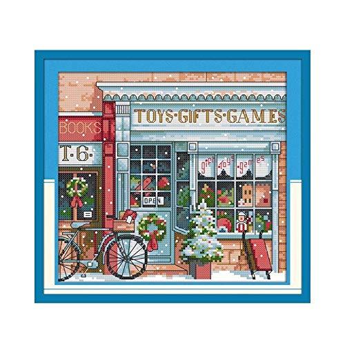 Cartoon-Kreuzstich-Kit-Geschenkspielzeug European-Stil-Möbel mit kleinem Maße Nähen Handarbeiten hängen Kreuzstich-Malerei (Cross Stitch Fabric CT number : 11CT unprinted)