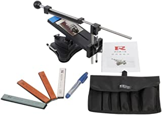 IMAGE Professional Kitchen Knife Sharpener System Kit Fix-angle Version II With 4 Stones