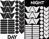 Biomar Labs® Reflektoren Reflektierende Aufkleber Reflexfolie Schwarz Stickers Set (40 Stück)...