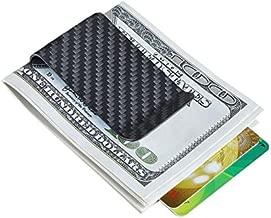 Carbon fiber wallet Money Clip Credit Card holder-CL CARBONLIFE Clips for men Matt Black