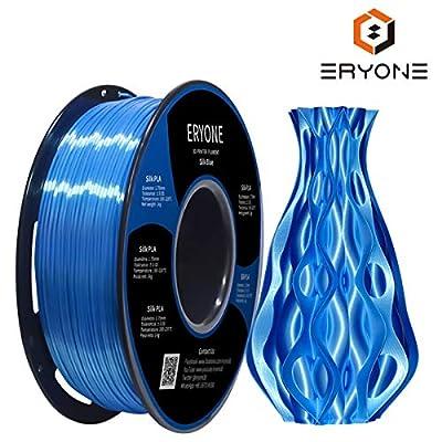 ERYONE Silk PLA Filament,1.75mm PLA Filament,Silk Blue PLA,Silky PLA,3D Printing Filament PLA for 3D Printer and 3D Pen, 1kg 1Spool