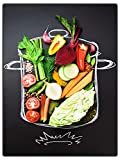 wandmotiv24 Obst & Gemüse als Leinwandbild, 40x30cm,