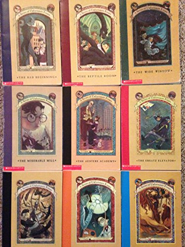 Series of Unfortunate Events Set books #1-9 (The Bad Beginning, The Reptile Room, The Wide Window, T