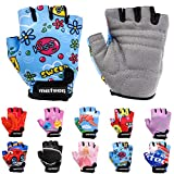 Meteor Unisex Kinder Fahrradhandschuhe Bike - Gel BMX Handschuhe, KISS LOVE, Gr.-Jr XS/ Handweite- 6-6.5cm