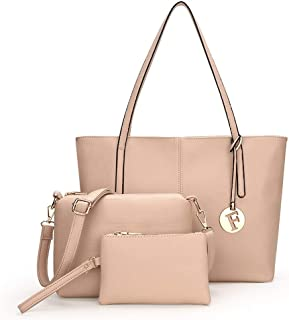 Candy Colors 3 Piece Set Handbag Versatile Multi Piece Set (Color : Apricot)