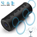 Bluetooth Speakers Portable Wireless Speaker Mix Hero T102Plus 20W Big Migicbox Stereo Loud Speaker with TWS Bluetooth Bass Volume Long Range Built in Mic for Cell Phone Android Home Outdoor Party