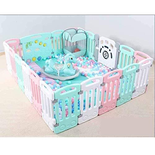 Parc à bébé, Jouer Fence for enfants bébé Ramper Tapis enfant Garde-corps de sécurité Clôture bébé Maison Aire de jeux intérieure Toy (Color : Twenty-first(green))