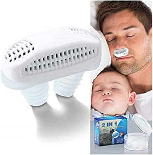 Anti Snore Nose Vent Plugs - Nasal Dilators Sleep Aid Clip Device for Comfortable Sleep Stop Mouth Breathing (White)