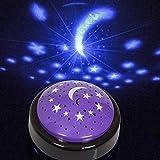 FANTASTIK Starlight –Lámpara proyectora de Luna y Estrellas