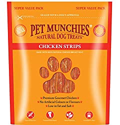 No artificial flavours or colours. Low fat 100% natural premium, human grade, chicken breast meat.