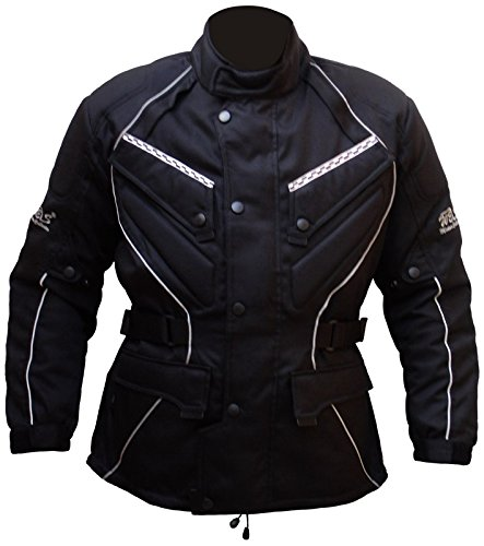 Protectwear Chaqueta de moto, chaqueta textil WCJ-101, negro Talla 48 / S