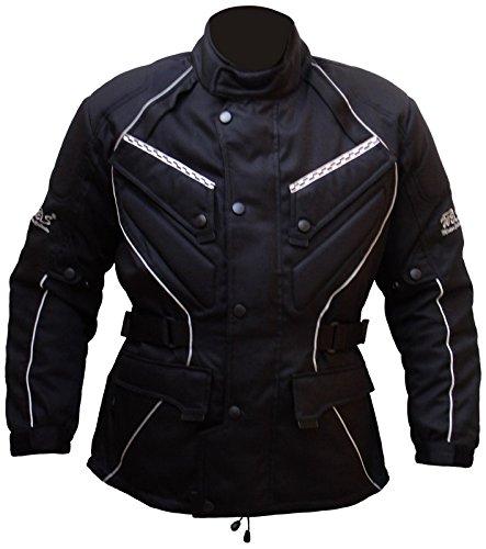 Protectwear Chaqueta de moto, chaqueta textil WCJ-101, negro Talla 50 / M