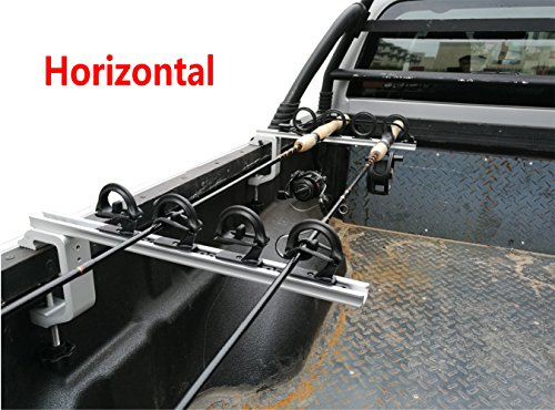 Brocraft Aluminum Clamp on Rod Holder for Truck or Boat/Truck Bed Rod Holder