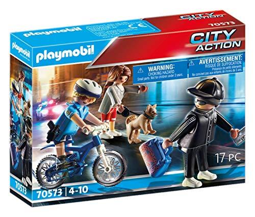 PLAYMOBIL City Action 70573 Polizei-Fahrrad: Verfolgung des Taschendiebs, Für Kinder von 4 - 10 Jahre