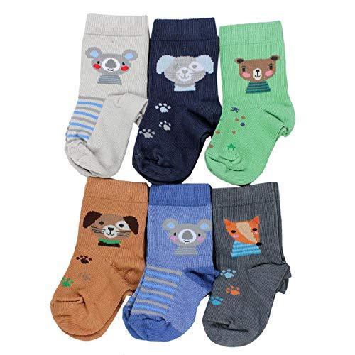 TupTam Kinder Socken Bunt Gemustert 6er Pack für Mädchen und Jungen, Farbe: Junge 9, Socken Größe: 16-18