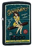 ZIPPO – Cigar Girl Design – Black Matte – Mechero para tormentas, Recargable, en Caja de Regalo