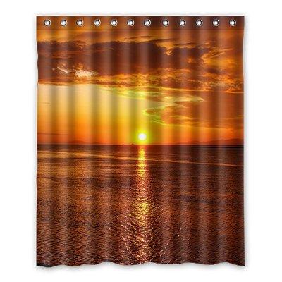 Dalliy Brauch Sonnenuntergang Wasserdicht Polyester Shower Curtain Duschvorhang 152cm x 183cm