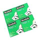 Scotch Magic Tape 810 Refill (3/4 in X 1500 in) 4 Rolls