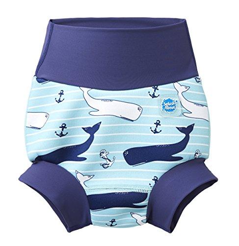 Splash About Unisex-Baby Neue Und Verbesserte Happy Nappy Windel Schwimmen, Vintage Moby, 6-12 Monate