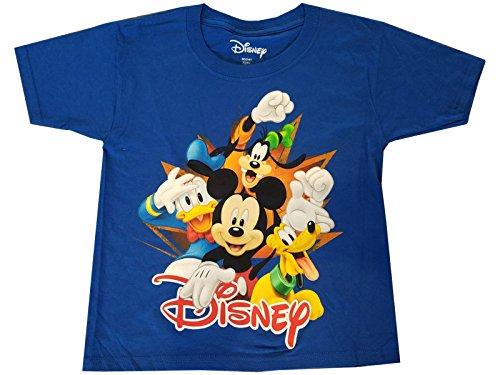 Camiseta Disney Mickey Donald Pluto Pateta Florida 4 Burst Fashion Top Azul royal, Royal, SM/6-7