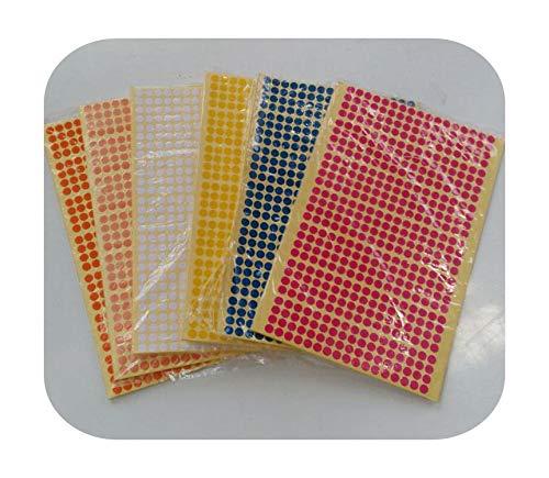 Geschenktasche, klein, Farbe, selbstklebend, gepunktet, Papier, Verpackung, Etikett, Durchmesser 6 mm, 10 mm, 16 mm, 25 mm, mehrfarbig, selbstklebende Etiketten, goldfarben, 15 Sheets-25 mm