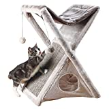 Trixie Pet Products Miguel Fold and Store Cat Tower, 20.25 x 13.75 x 25.5, Gray/Light Gray