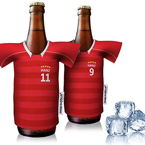 vereins-Trikot-kühler Home für Mainz 05 Fans | 2er Fan-Edition| 2X Trikots | Fußball Fanartikel Jersey Bierkühler by ligakakao.de