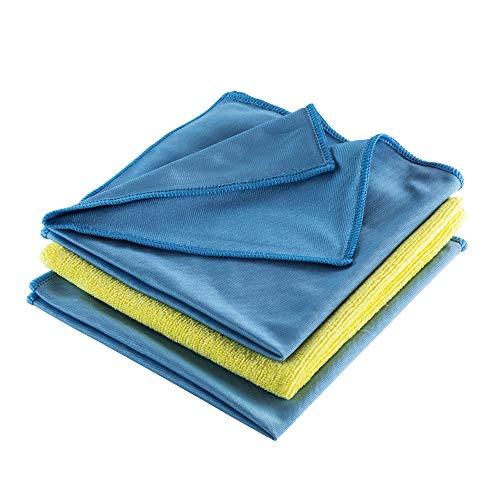 PERSOSELL® Mikrofasertücher - 3in1 - Streifenfreie Reinigung bei jeder Anwendung - Extrem Saugstark, langlebig und samtig weiche Allzwecktücher - Fusselfrei 40 x 40