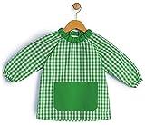 BeBright Bata Escolar Infantil, Baby Escolar Niña y Niño, Babi para Colegio y Guarderías- Fabricado en España (Verde Botella, 2-3 años)