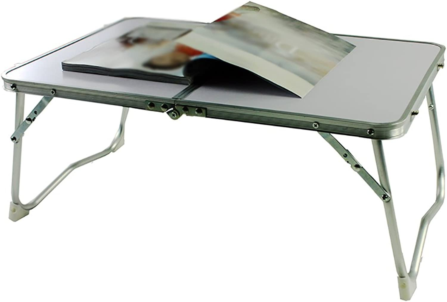 HAIPENG Bed Computer Desk Dorm Room Laptop Tables Folding Table Study Tables bluee and White (color   2 , Size   LWH 61  41  28.5cm)