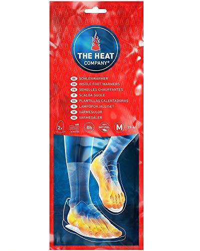 THE HEAT COMPANY Sohlenwärmer - EXTRA WARM - Wärmesohlen - Fußwärmer - 8 Stunden warme Füße - sofort einsatzbereit - rein natürlich - Größe MEDIUM: 39-41 - 5 Paar