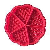 Kanggest Molde en Forma de Corazón Rojo de las Galletas Molde de Torta del Silicón para Herramienta de Hornada de DIY -17.5 * 1.5cm